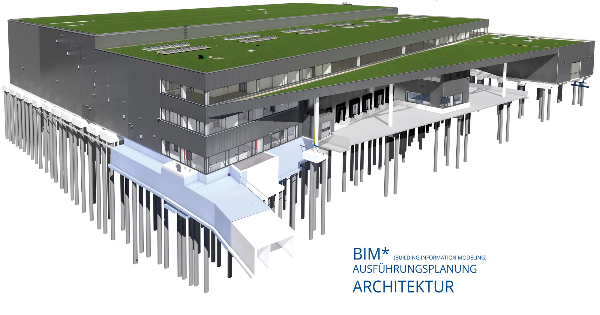 BIM-Logistikzentrum-Architektur