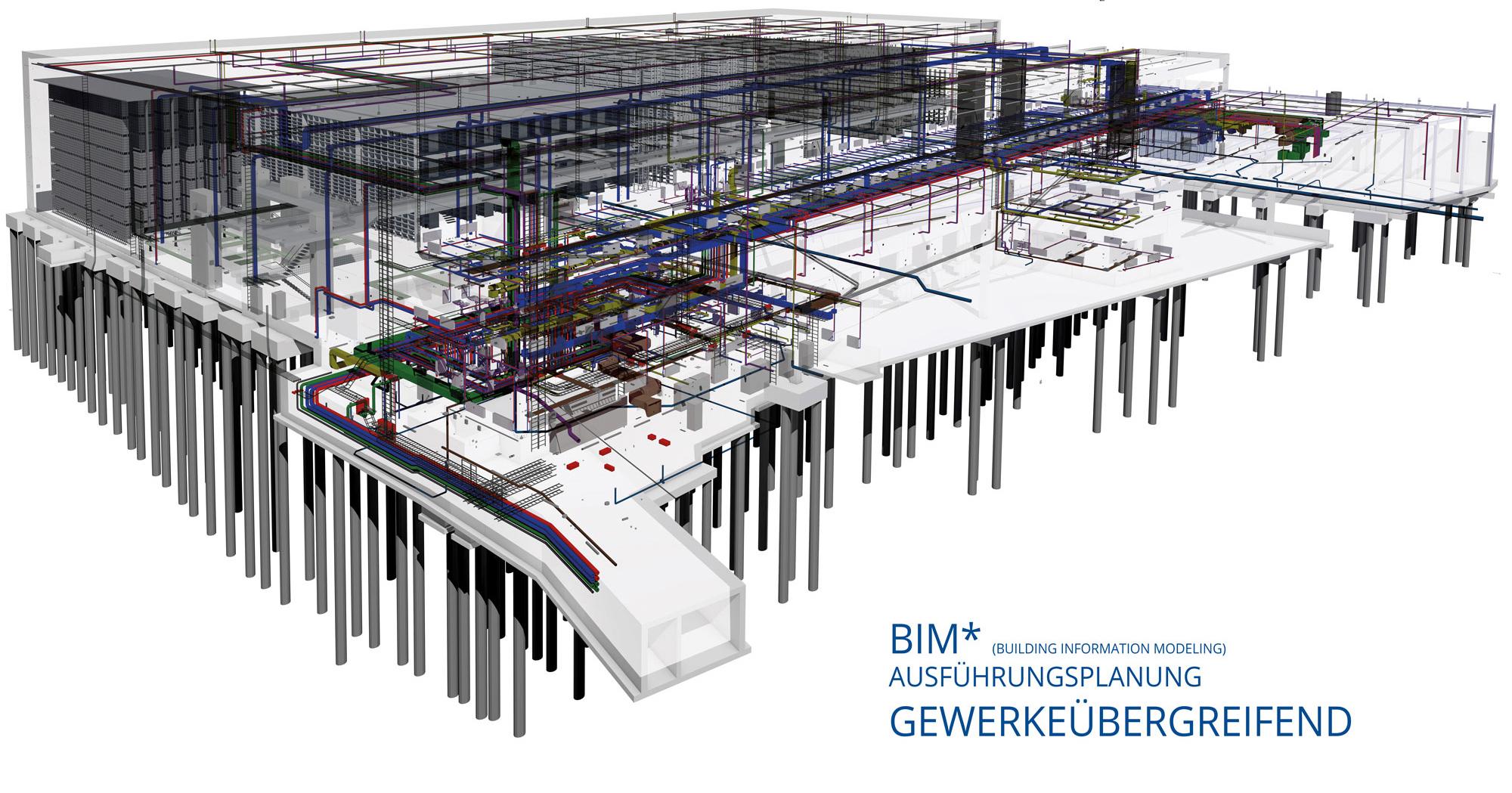 BIM-Logistikzentrum-Gewerke