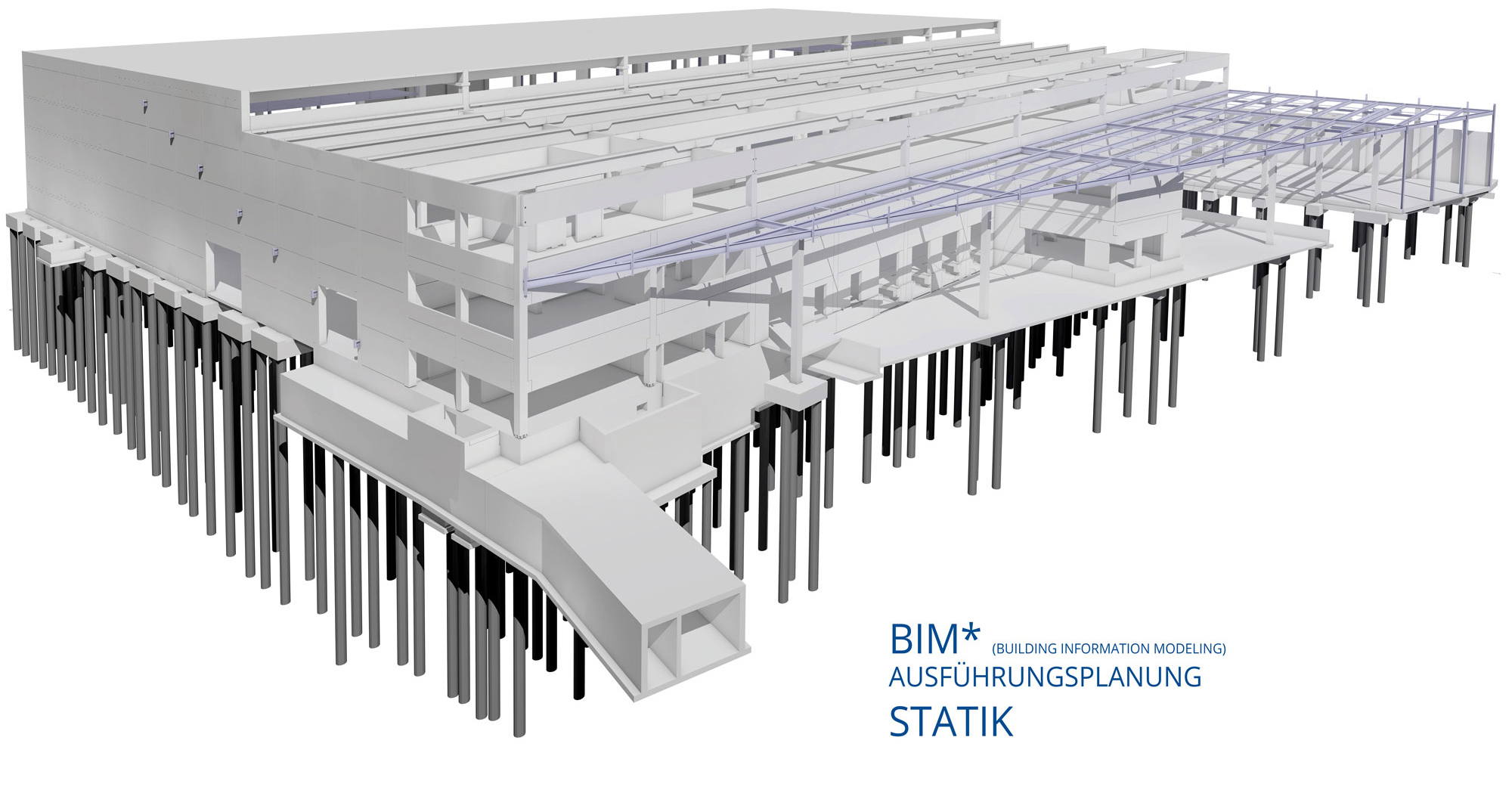 BIM-Logistikzentrum-Statik